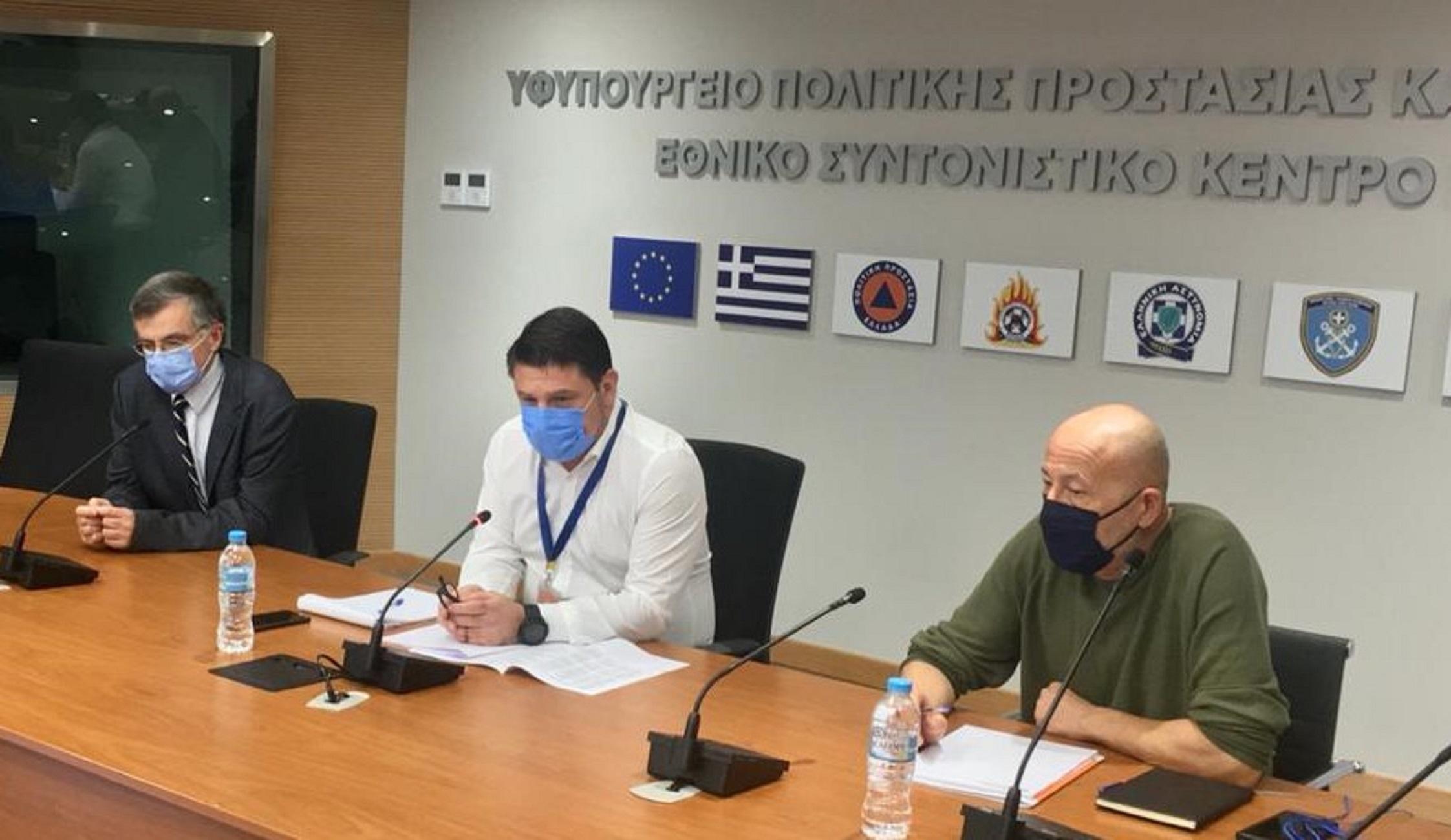 """Πολιτική Προστασία: Ευρεία τηλεδιάσκεψη για 6 περιοχές που είναι στο """"κόκκινο"""""""