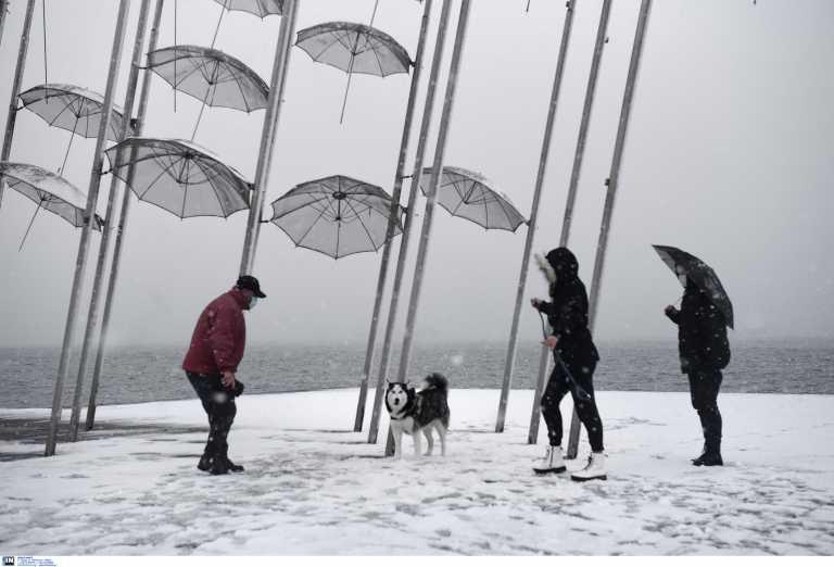 Καιρός – Θεσσαλονίκη: Επιστρέφει το ρεύμα στις περιοχές που κόπηκε – Συνεχίζεται η χιονόπτωση