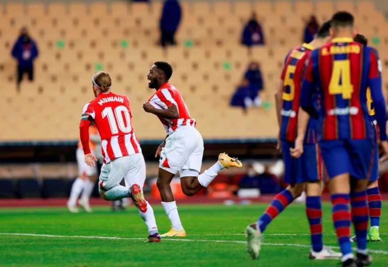 Super Cup Ισπανίας: «Ατσάλινη» Αθλέτικ στον τελικό, «γονάτισε» την Μπαρτσελόνα με γκολάρα στην παράταση (video)