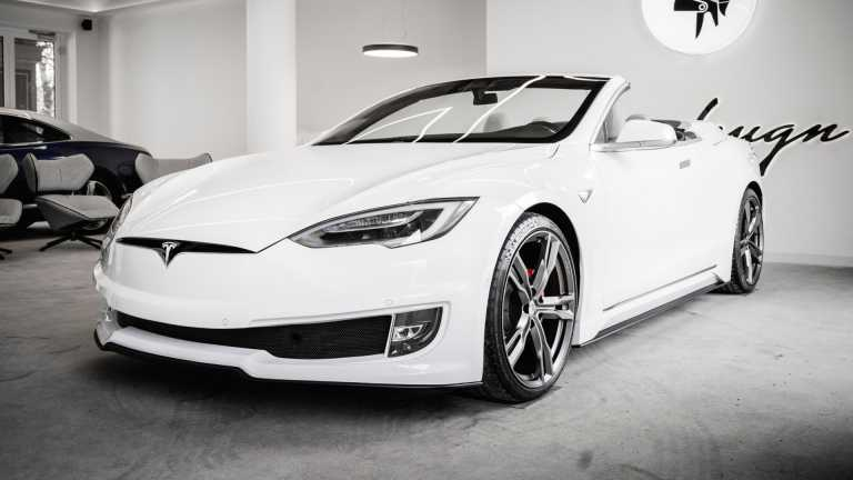 Ιταλικά χέρια μετατρέπουν το Tesla Model S σε ένα πανέμορφο κάμπριο! [pics]