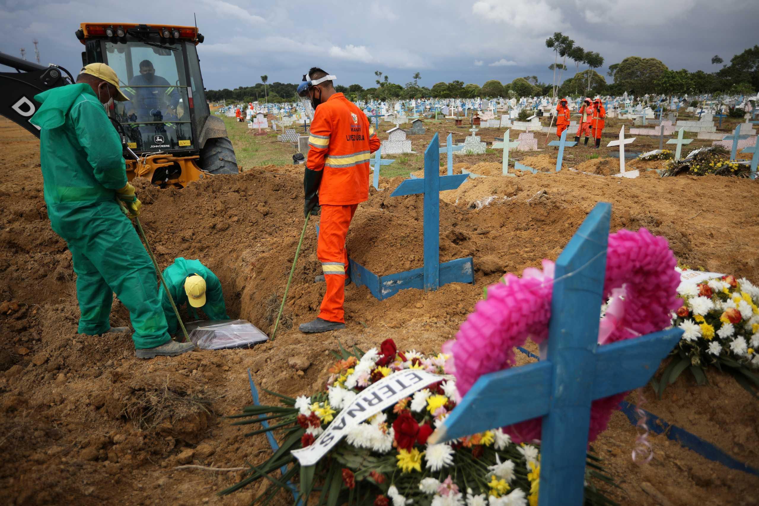 Βραζιλία: 62.290 νέα κρούσματα κορονοϊού και 1.171 θάνατοι το τελευταίο 24ωρο