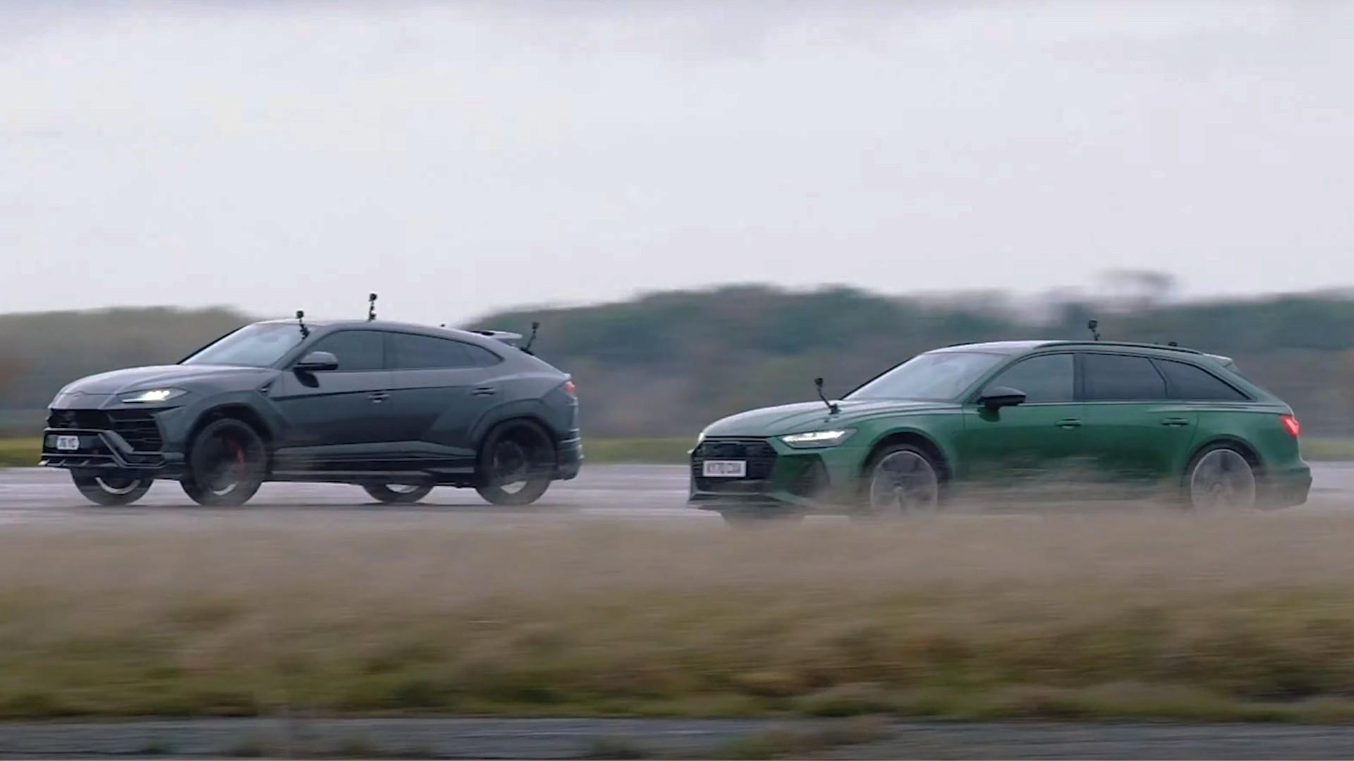 Κόντρα μεταξύ Audi RS 6 Avant και Lamborghini Urus [vid]
