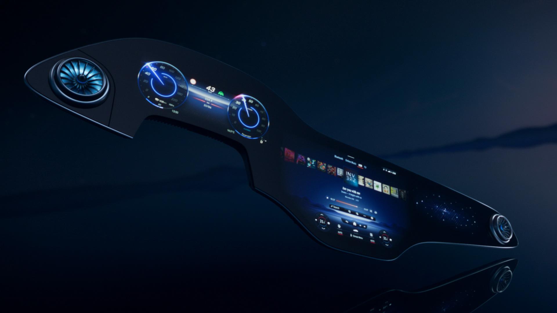 Hyperscreen: Η Mercedes-Benz κάνει όλο το ταμπλό… οθόνη! [vid]