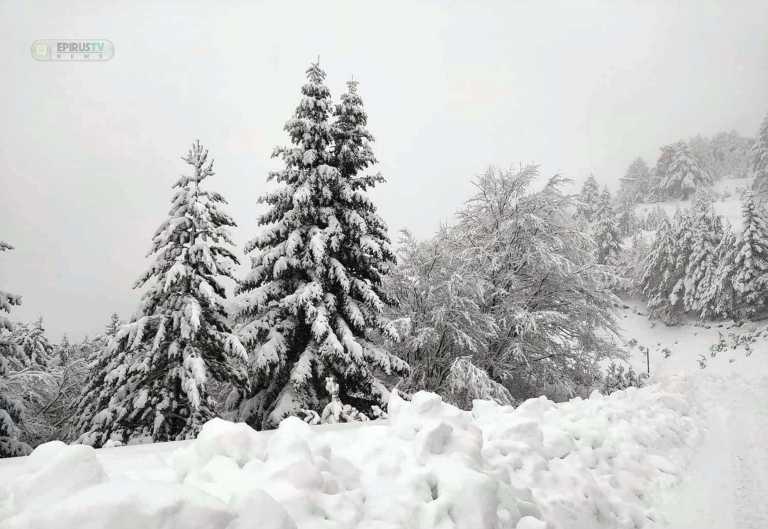 Ήπειρος: Μέτσοβο, Τζουμέρκα, Κόνιτσα «χάθηκαν» μέσα στα χιόνια (pics, video)