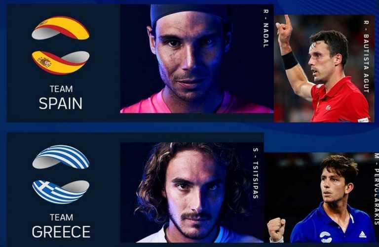 ATP Cup: Τσιτσιπάς και Ναδάλ αντιμέτωποι στη Μελβούρνη