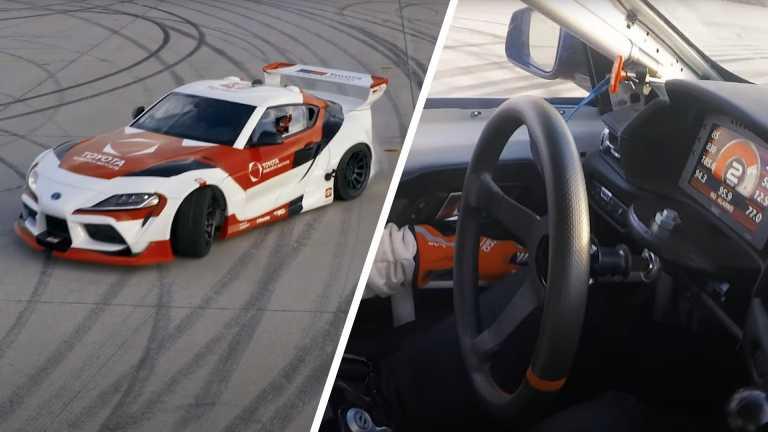 Αυτόνομη Toyota GR Supra κάνει drift χωρίς παρέμβαση του οδηγού [vid]