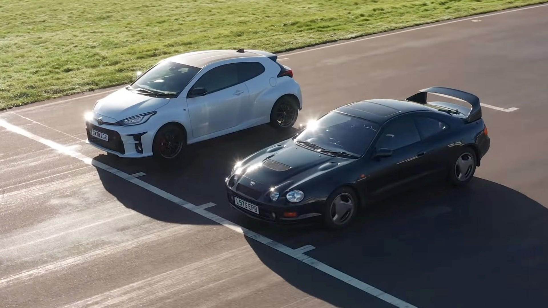 Toyota GR Yaris εναντίον Celica GT-Four ST205 στην πίστα [vid]