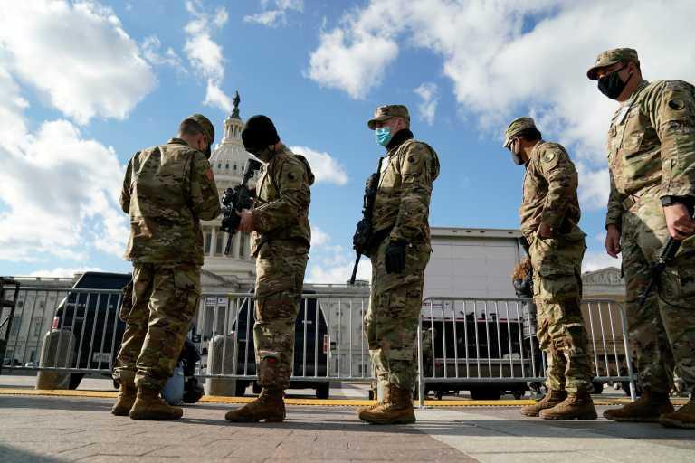 ΗΠΑ: Απομακρύνθηκαν 12 μέλη της Εθνοφρουράς μετά από έλεγχο ενόψει της ορκωμοσίας Μπάιντεν