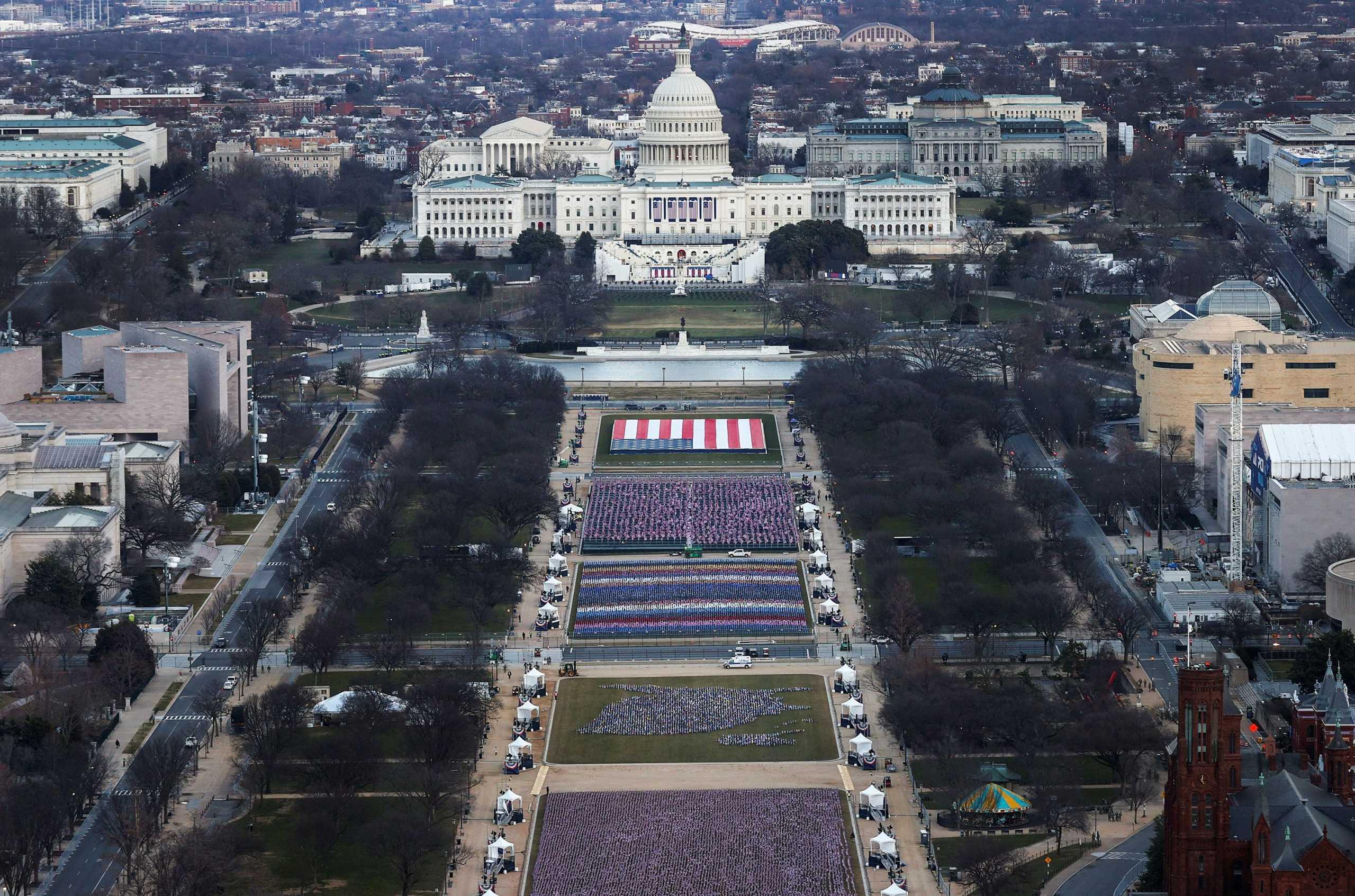 Ορκωμοσία Μπάιντεν στα χρόνια του κορονοϊού: 200.000 σημαίες αντί για ανθρώπους στο National Mall
