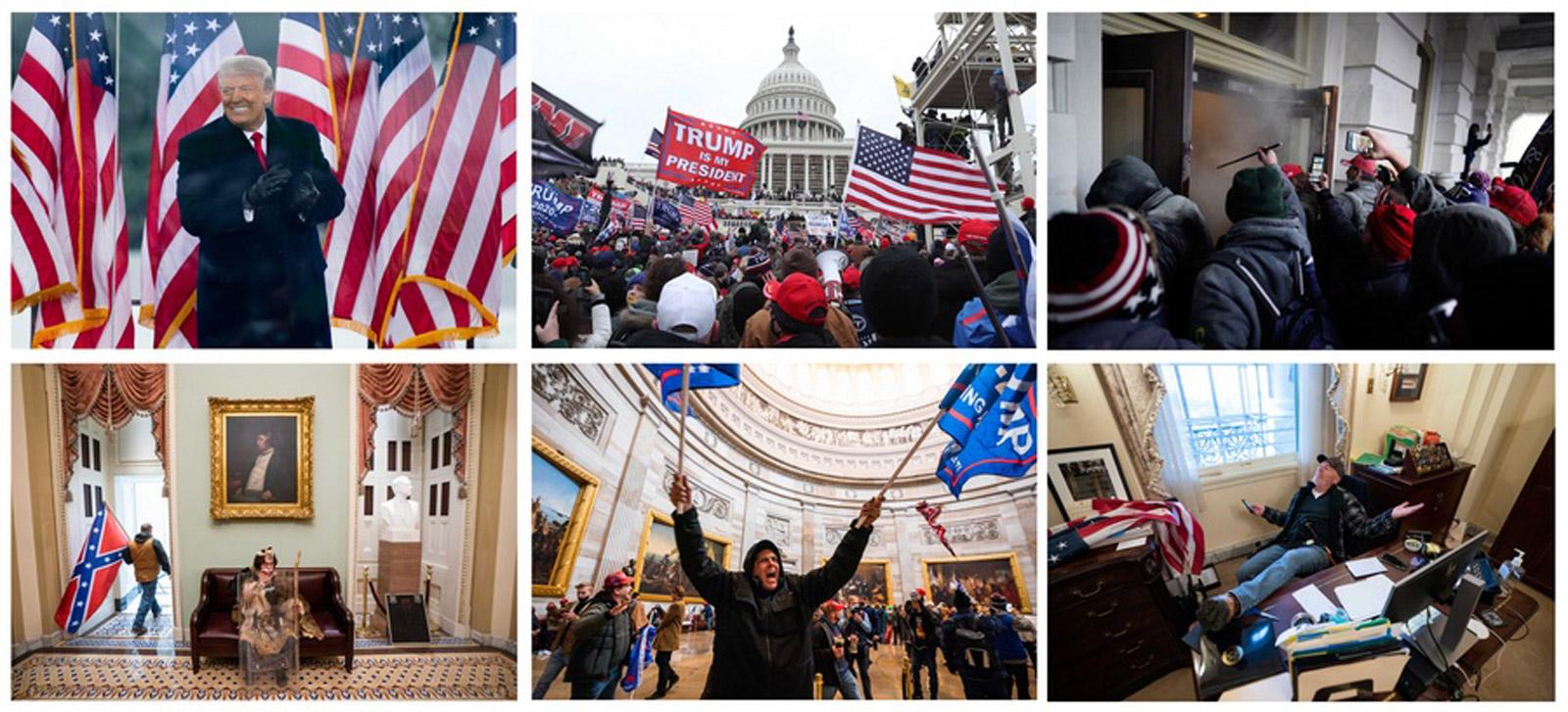 Καπιτώλιο: Η στιγμή της εισβολής και οι  εικόνες που λάβωσαν την δημοκρατία (video)