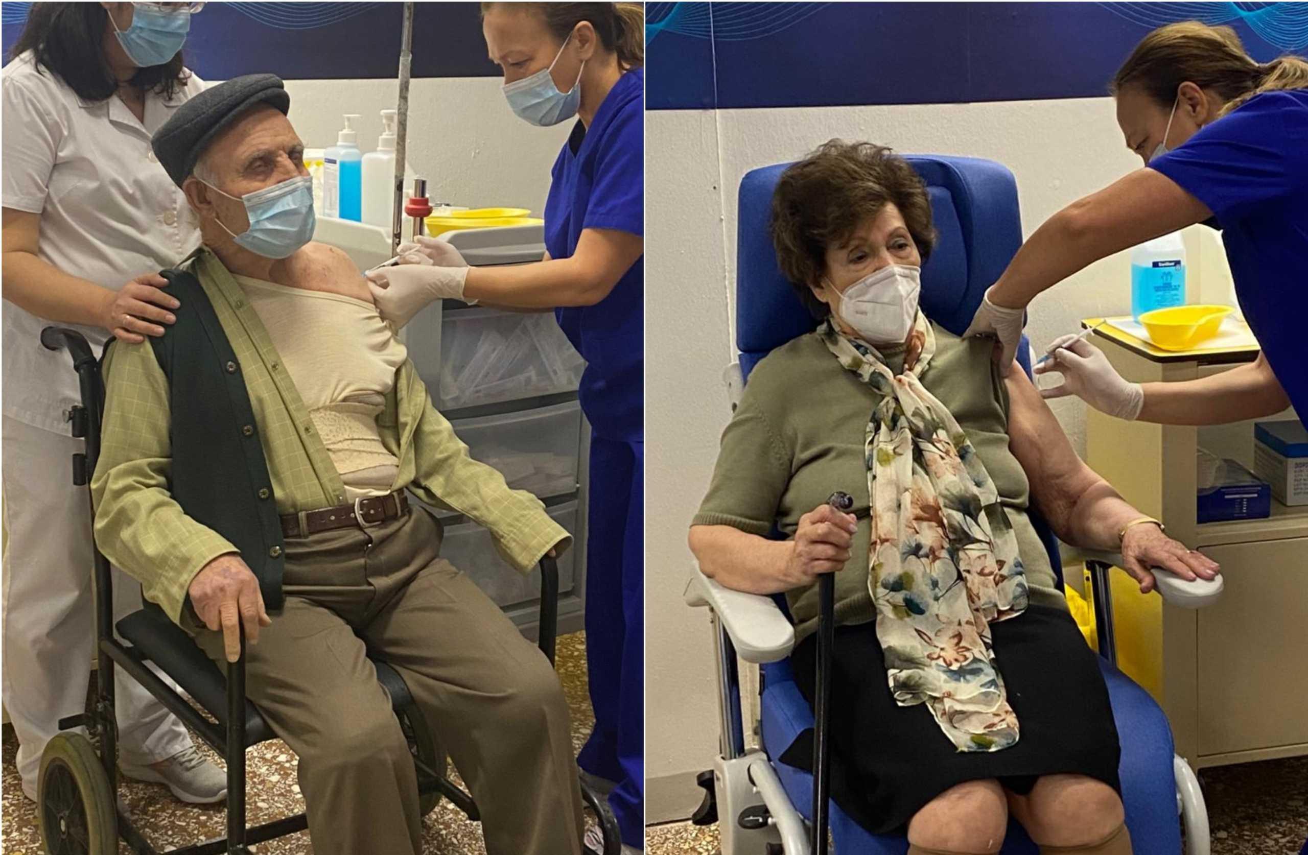 Εμβολιασμοί κορονοϊού: Στον Ευαγγελισμό οι πολίτες άνω των 85 (pics)