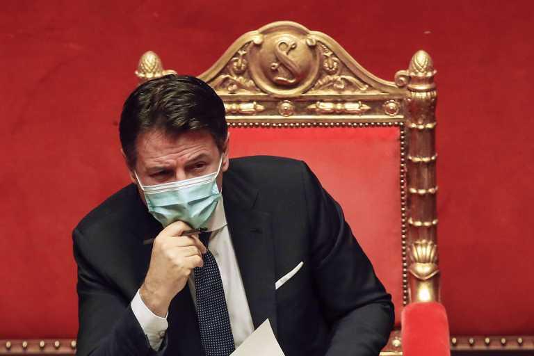 Ιταλία: Ο Τζουζέπε Κόντε προσπαθεί να εξασφαλίσει την στήριξη άλλων πέντε γερουσιαστών