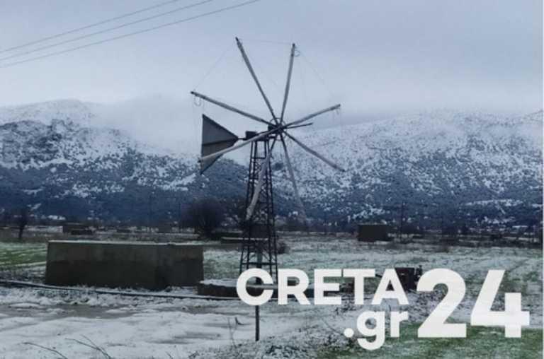 Καιρός: Ο «Λέανδρος» έντυσε την Κρήτη στα λευκά (pics)