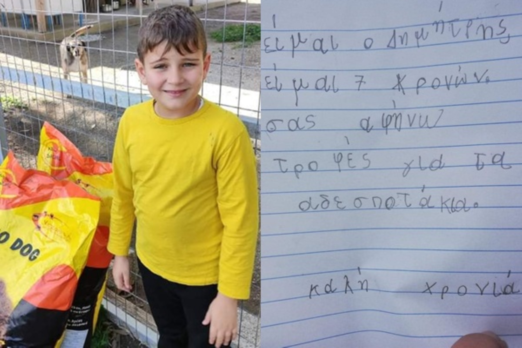 Σύρος: Ο 7χρονος Δημήτρης συγκίνησε με την πράξη του όλο το νησί (pics)