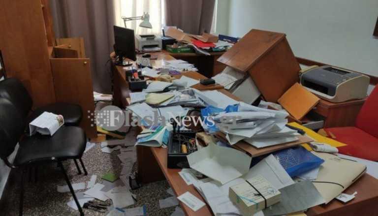 Χανιά: Απίστευτες εικόνες στο εργατικό κέντρο – Έκλεψαν, έφαγαν κι έφυγαν (video)