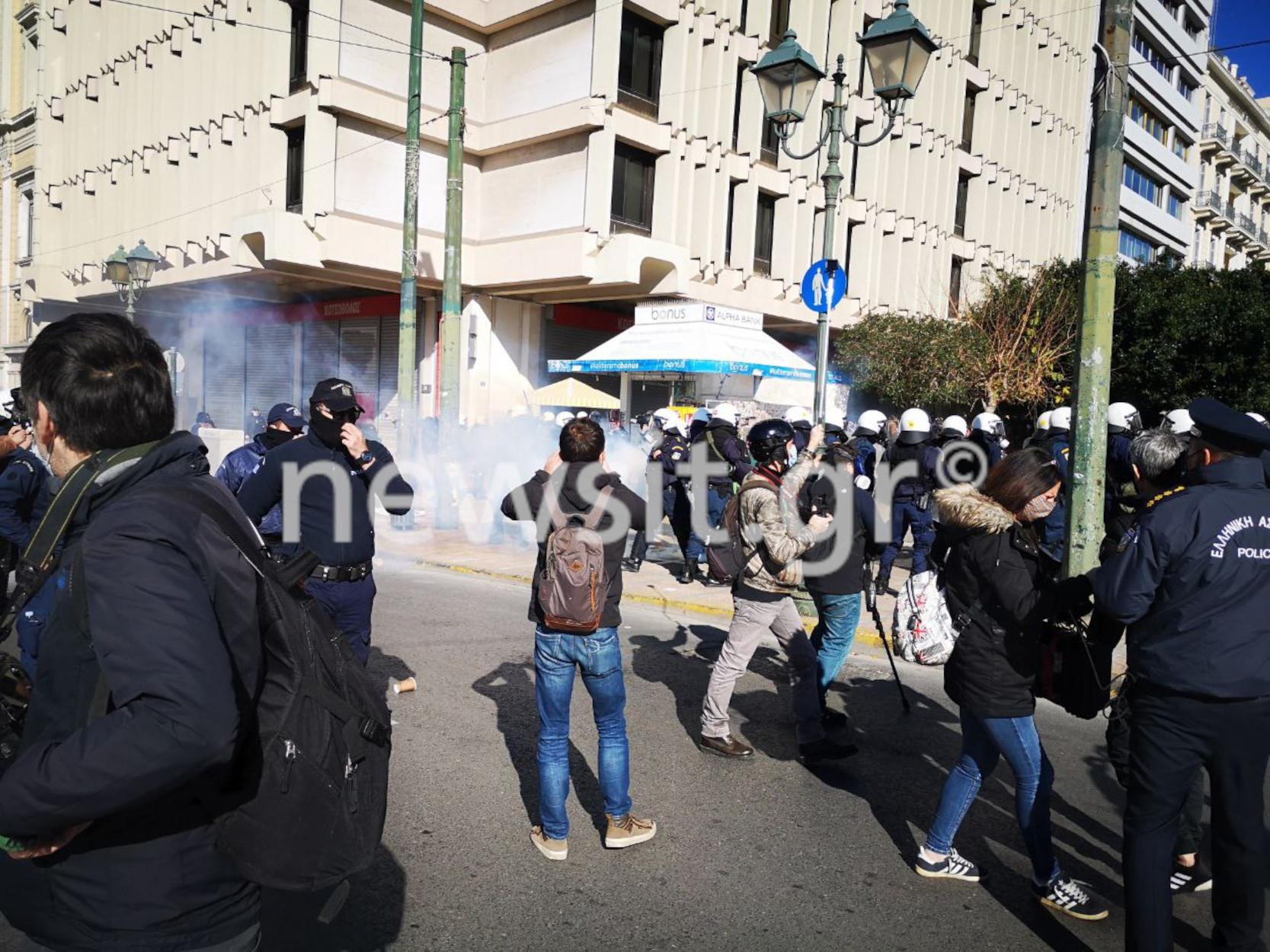 Ένταση με χημικά στο φοιτητικό συλλαλητήριο στην Κοραή (pics, video)