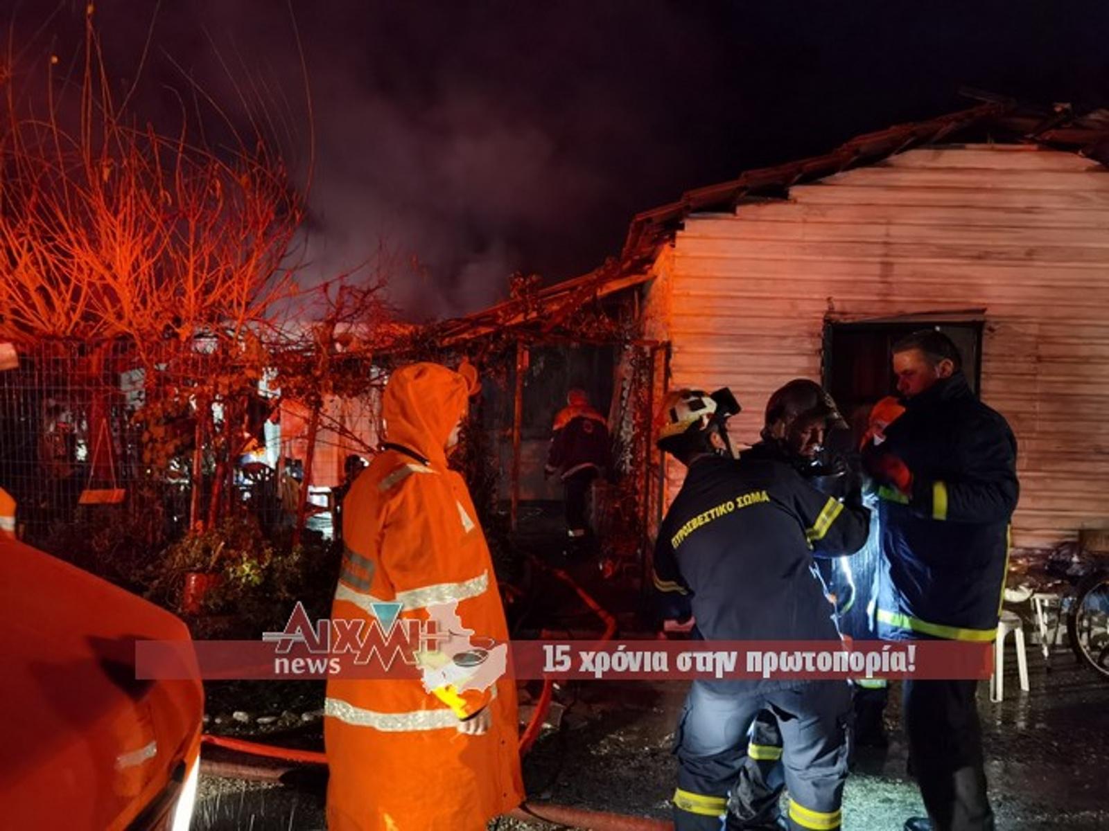 Μεσολόγγι: Τραγωδία με απανθρακωμένο άτομο μετά από φωτιά σε μονοκατοικία