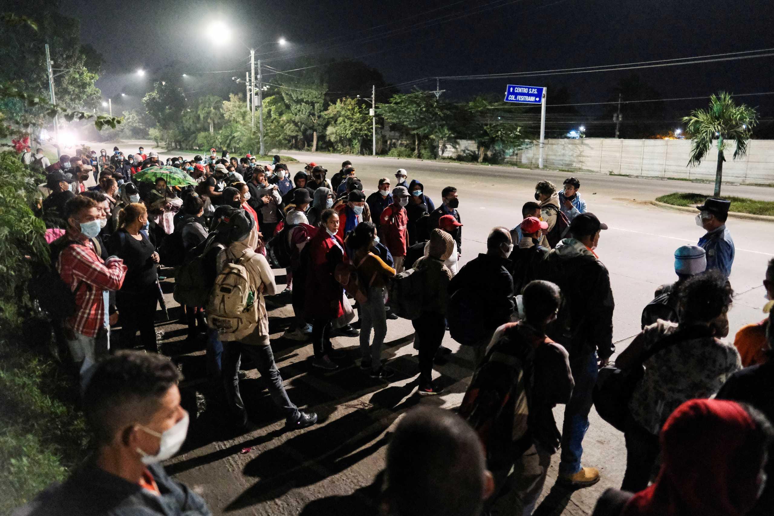 Ονδούρα: Νέο καραβάνι μεταναστών με προορισμό το «αμερικάνικο όνειρο» στις ΗΠΑ του Τζο Μπάιντεν