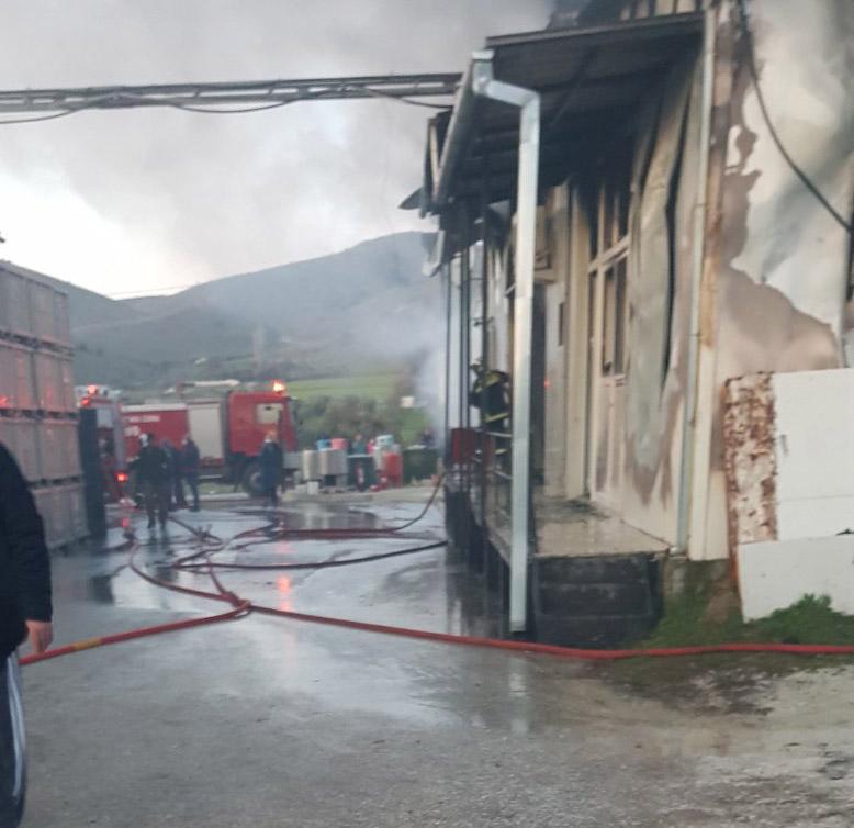 Τρίκαλα: Μεγάλη φωτιά στο εργοστάσιο Υφαντής (pics)