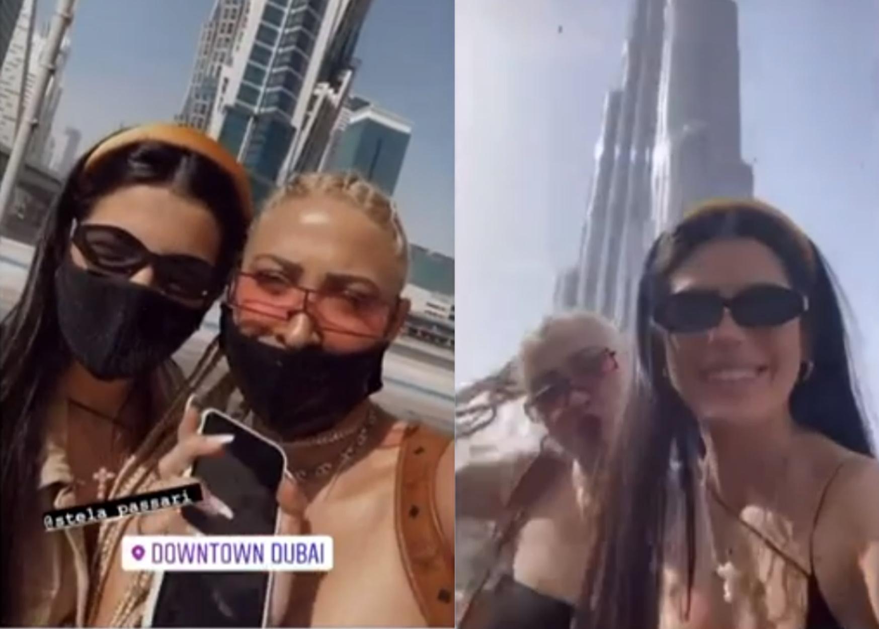 H Ιωάννα Τούνη στο Ντουμπάι με την κολλητή της
