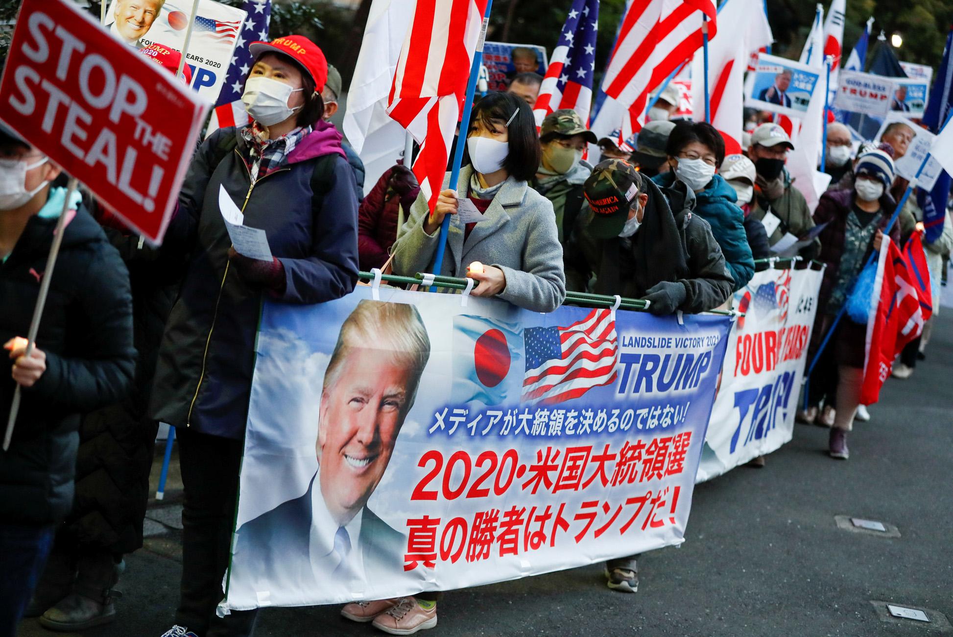 Ιαπωνία: Οπαδοί του Τραμπ έκαναν πορεία στο Τόκιο