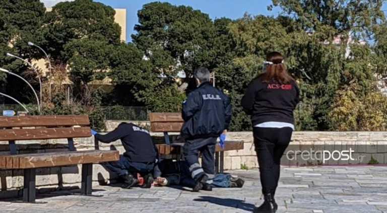 Ηράκλειο: Άνδρας εντοπίστηκε αναίσθητος στο κέντρο της πόλης
