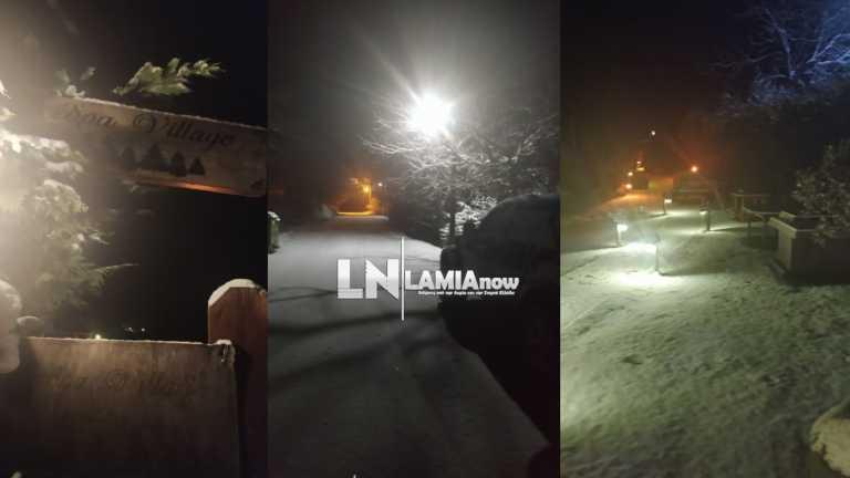 Καιρός – Φθιώτιδα: Ξεκίνησε την επέλαση ο «Λέανδρος», που χιονίζει (video)