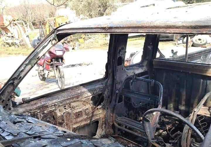 Λέσβος: Ανατίναξαν το αγροτικό αυτοκίνητο μία μέρα μετά το απειλητικό σημείωμα που άφησαν στον οδηγό του (pic)