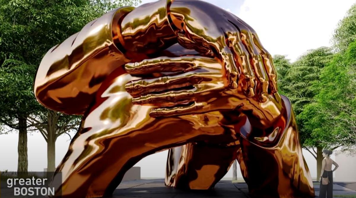 «Η Αγκαλιά»: Μνημείο ύψους 7 μέτρων στην Βοστώνη για τον Μάρτιν Λούθερ Κινγκ (pic, vid)