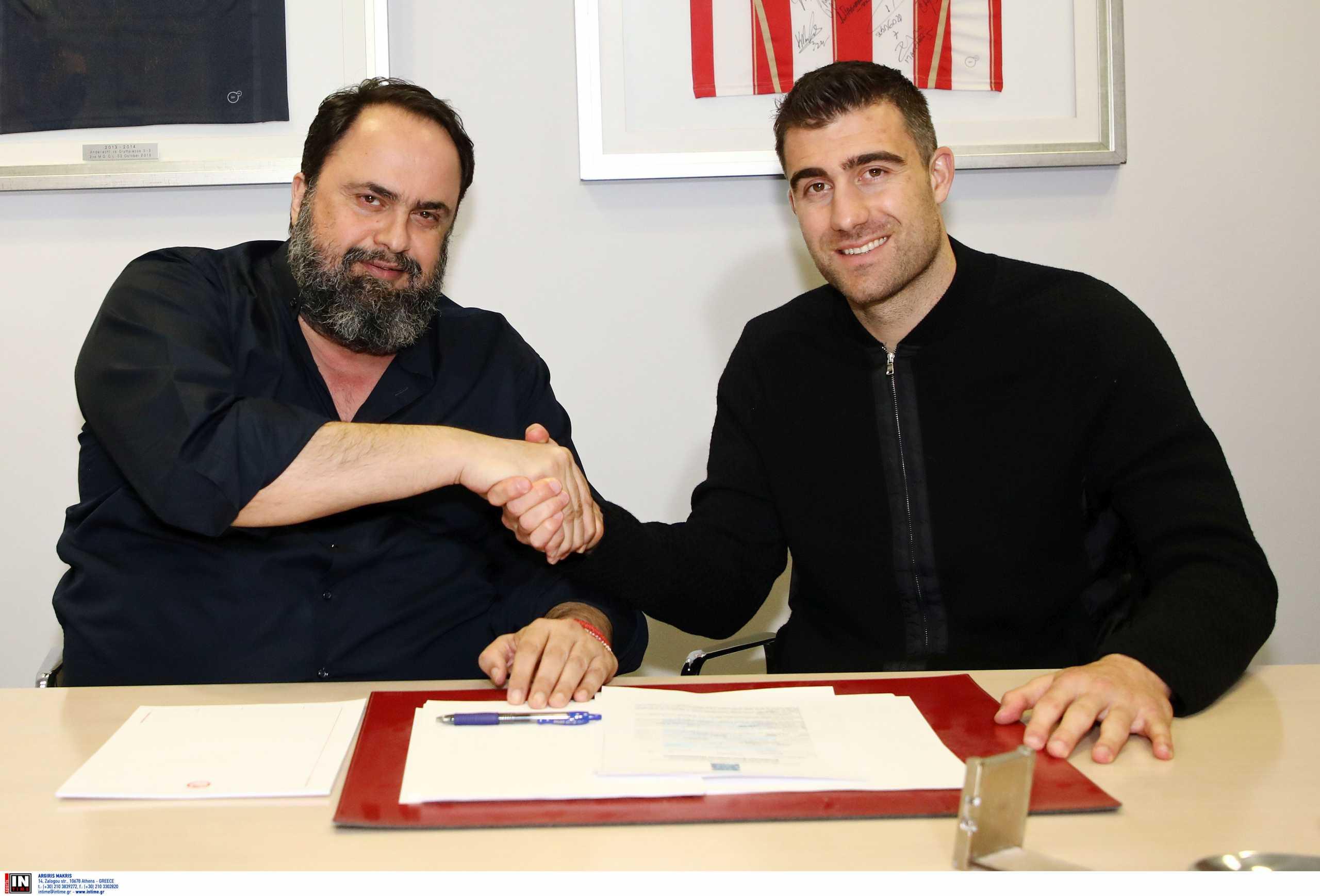Ολυμπιακός: «Aυτά που μου είπε ο Μαρινάκης με έκαναν να υπογράψω» δήλωσε ο Παπασταθόπουλος