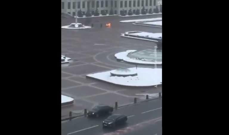Σοκ στη Λευκορωσία: 35χρονος αυτοπυρπολήθηκε έξω από την έδρα της κυβέρνησης
