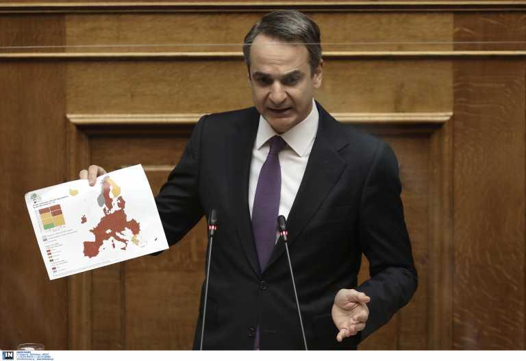 Βουλή: Ο Κυριάκος Μητσοτάκης ενημερώνει για την πανδημία