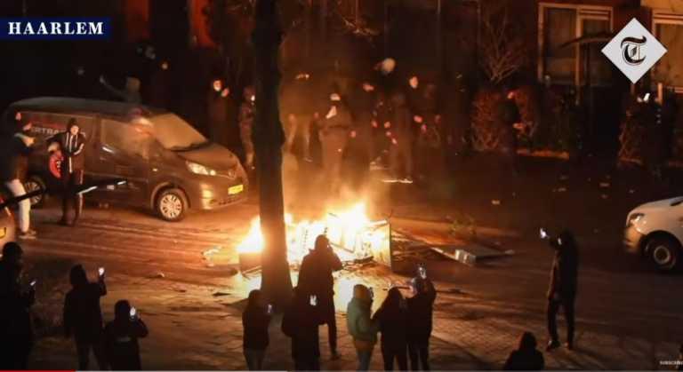 Ολλανδία: Συνεχίζονται οι ταραχές κατά της απαγόρευσης κυκλοφορίας –Πάνω από 150 συλλήψεις (pics, vids)