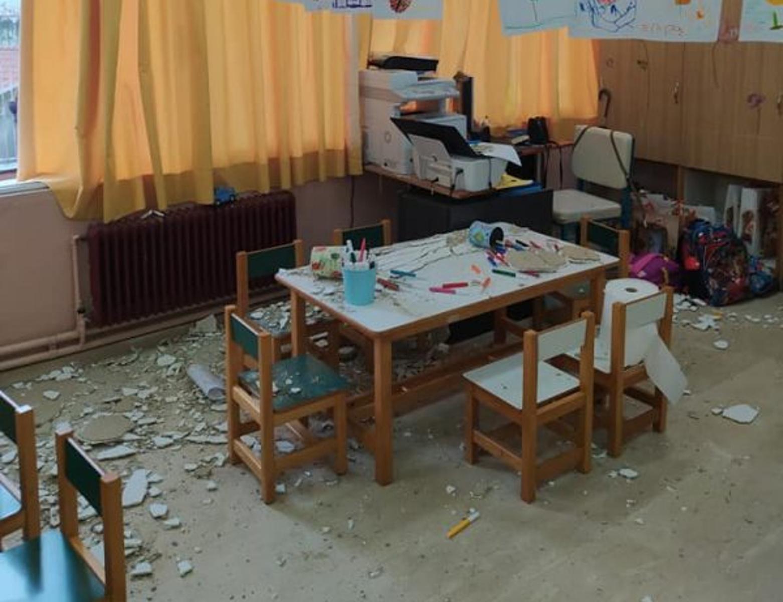Κέρκυρα: Σώθηκαν από θαύμα παιδιά σε νηπιαγωγείο – Έπεσαν σοβάδες στο διάλειμμα