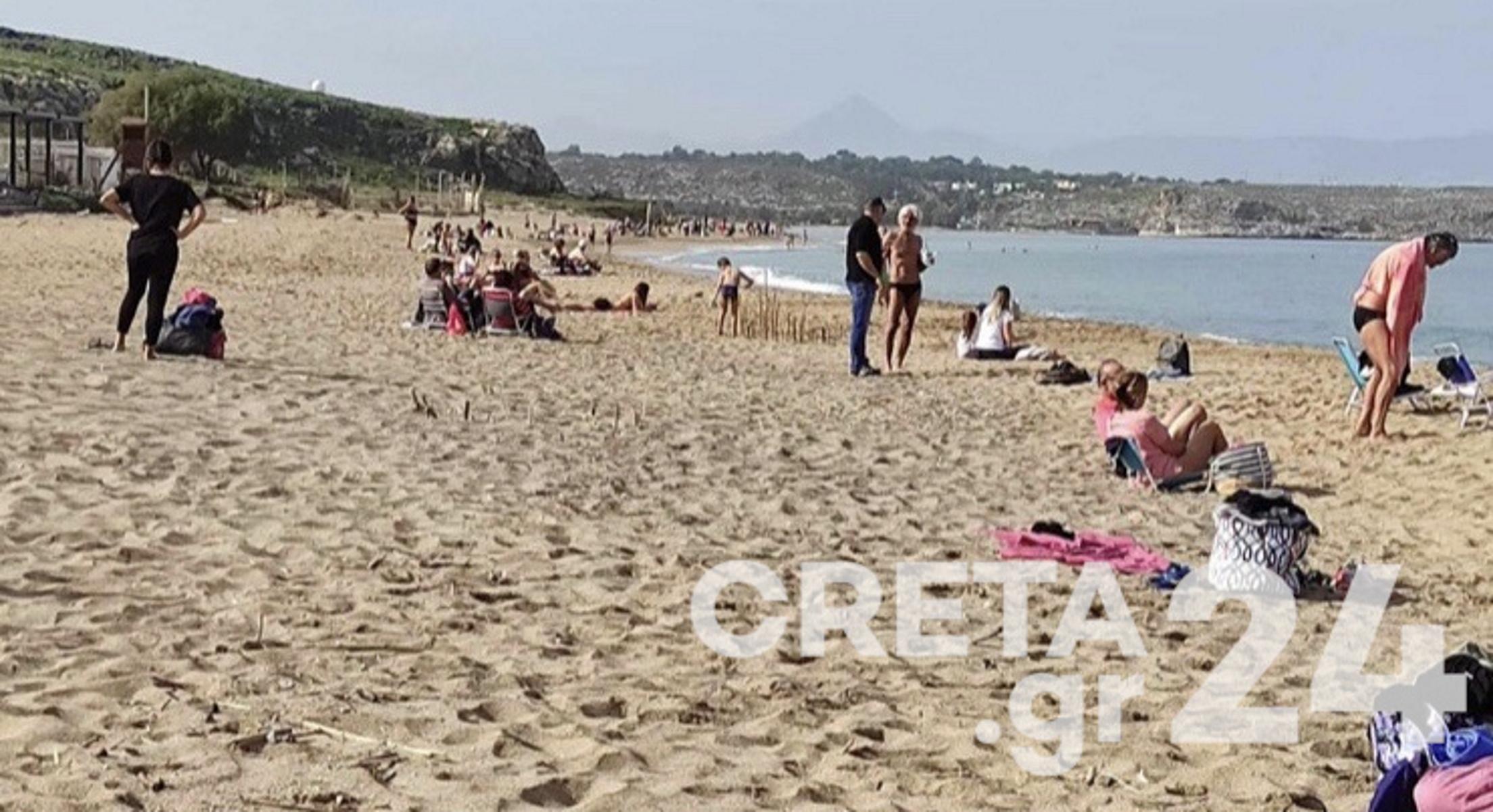 Πλημμύρισαν οι παραλίες Γενάρη μήνα – «Φλερτάρει» με τους 30 ο υδράργυρος (pics)