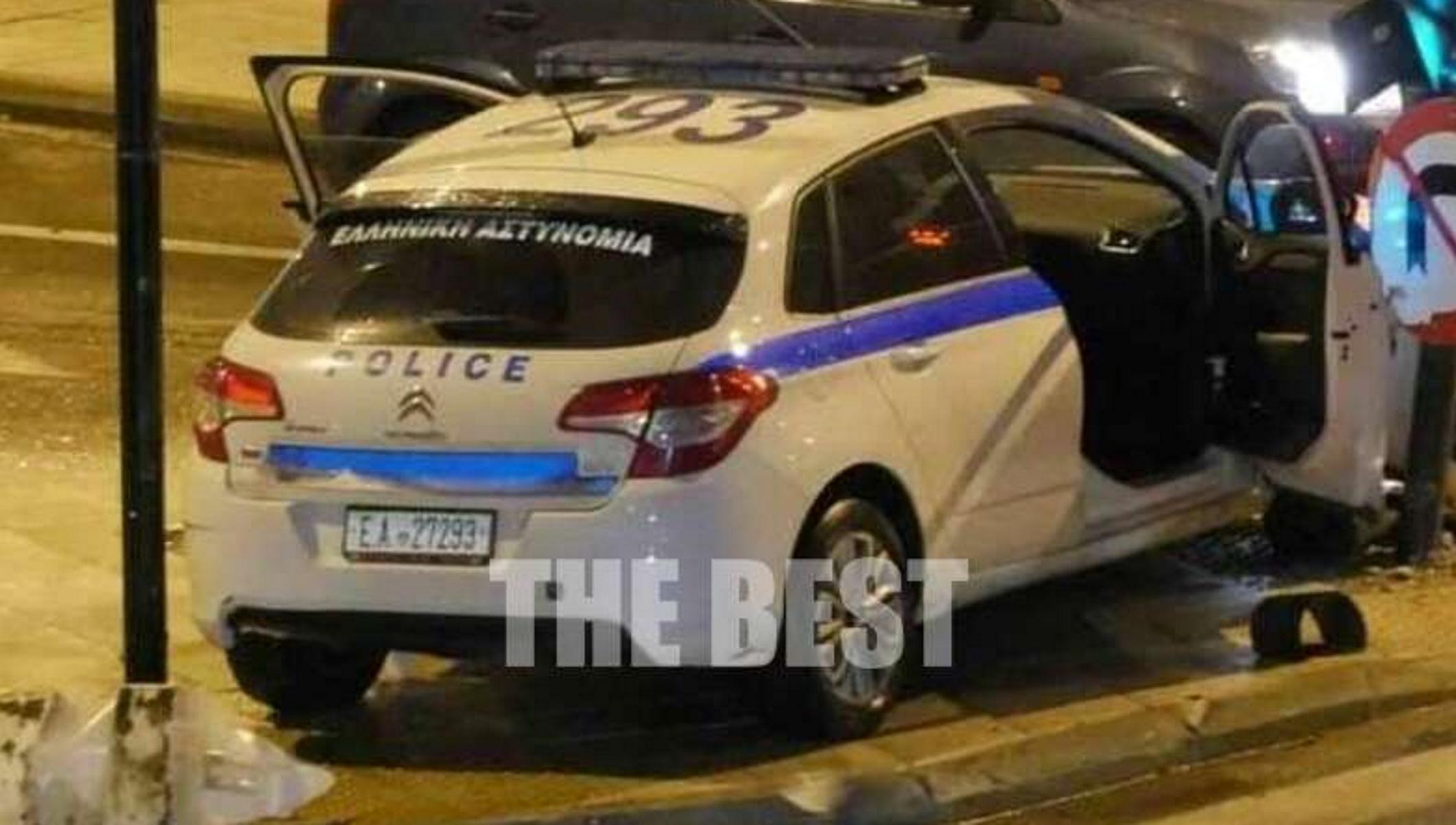 Πάτρα: Περιπολικό που πήγαινε σε κλοπή «στούκαρε» σε φανάρι (pic)