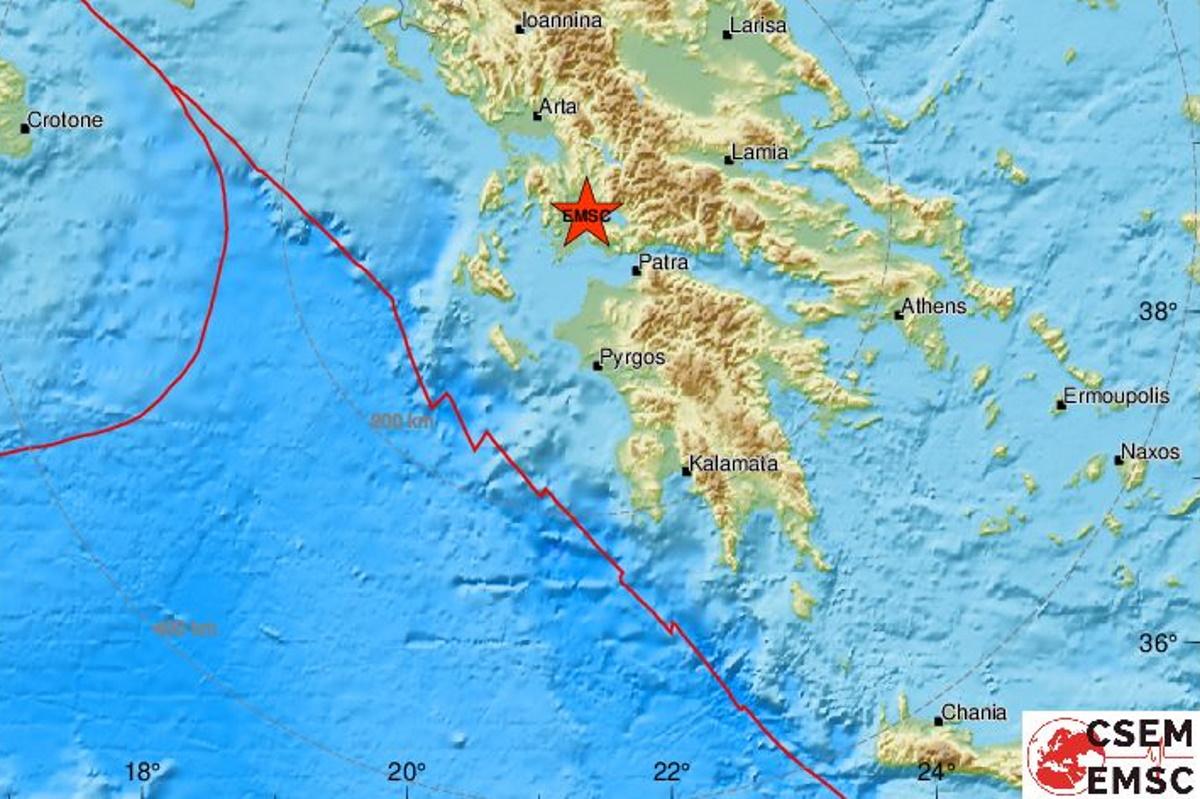 Σεισμός κοντά στην Πάτρα – Ταρακούνησε Αχαΐα, Αιτωλοακαρνανία και Φωκίδα