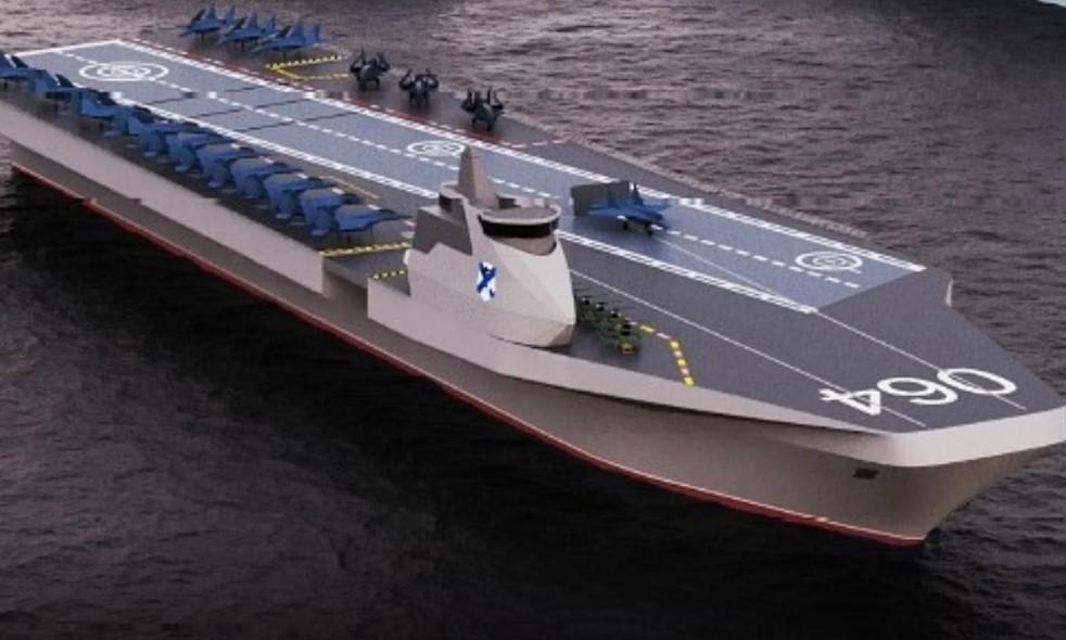 Αυτό είναι το πρωτότυπο σχέδιο για το νέο αεροπλανοφόρο του ρωσικού Πολεμικού Ναυτικού