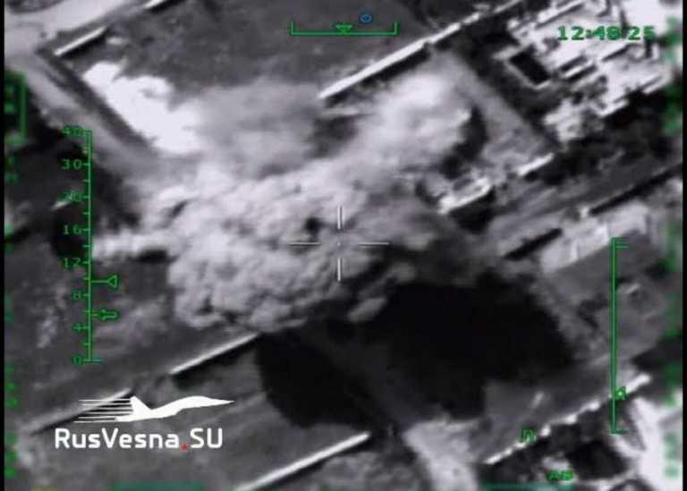 Συρία: Βίντεο ντοκουμέντο από καταστροφική ρωσική επίθεση σε οχυρά τζιχαντιστών [vid]