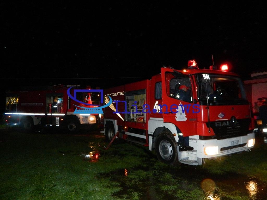 Ηλεία: Κάηκε σπίτι στα Σαβάλια (video)