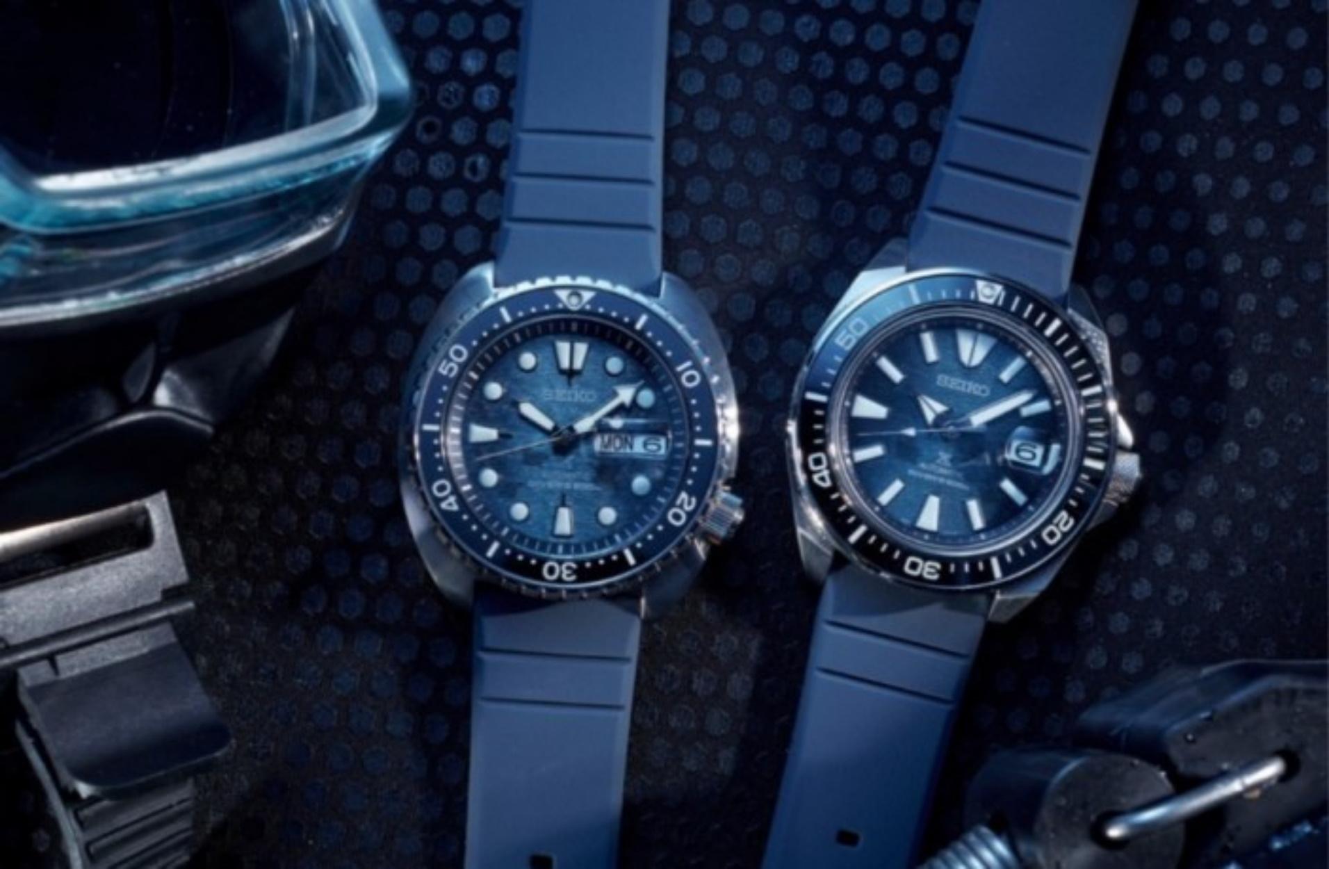 """Δείτε τα νέα ρολόγια """"Save The Ocean"""" της Seiko σε συνεργασία με τον Φαμπιέν Κουστώ"""