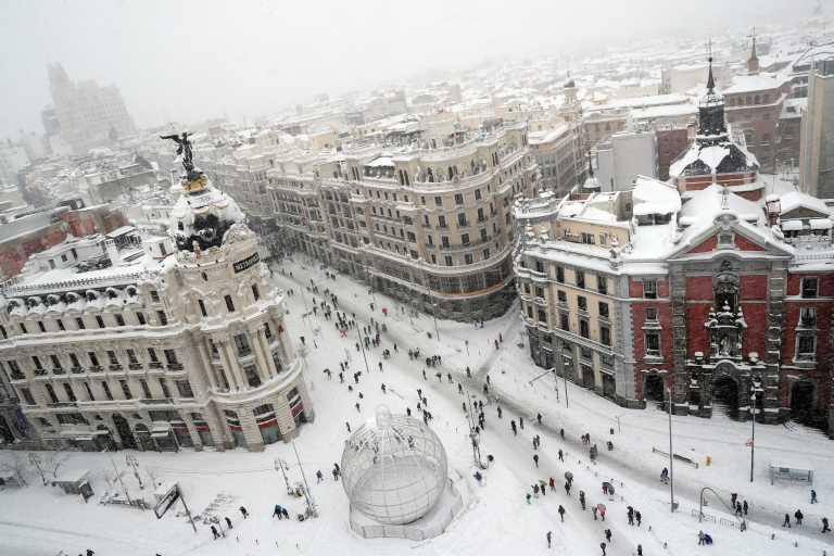 Ισπανία: Κηρύχθηκαν ζώνες καταστροφής μετά την πρωτοφανή χιονόπτωση – Έκτακτες επιχορηγήσεις και μέτρα στήριξης