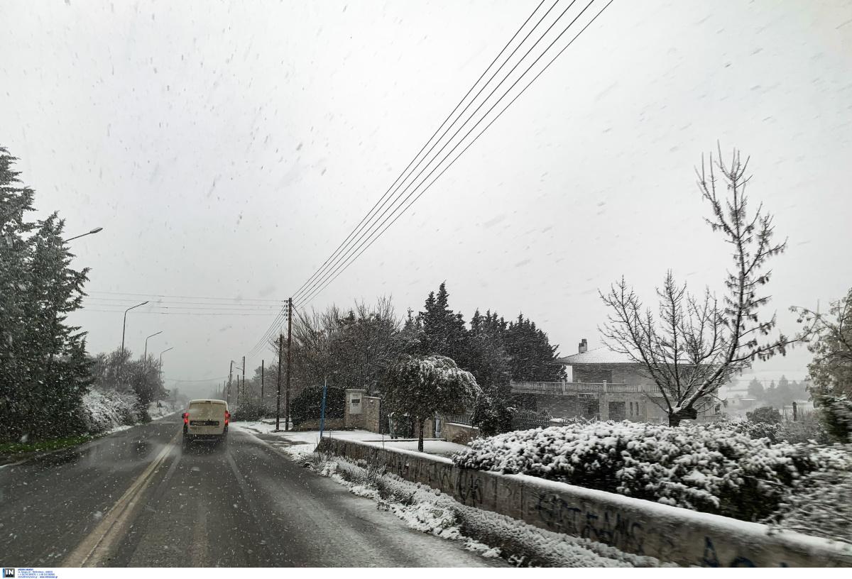 Καιρός: Σε αυτά τα σημεία στην Κεντρική Μακεδονία είναι απαραίτητες οι αλυσίδες – Τα κλειστά σχολεία