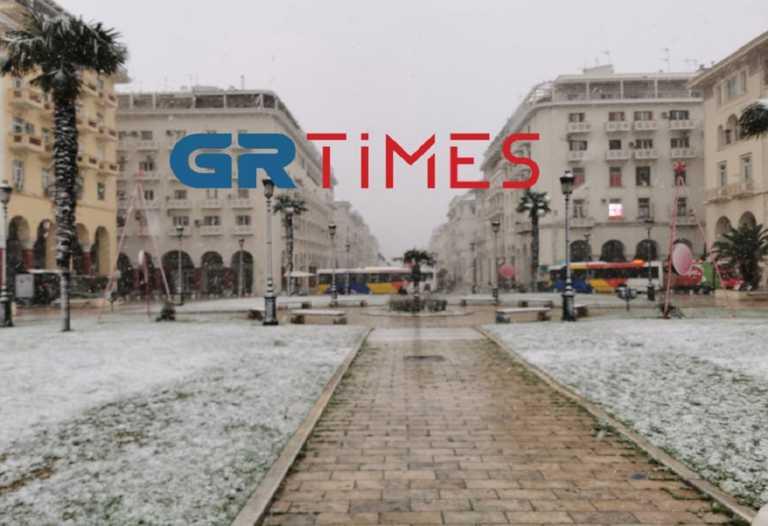 Καιρός – Θεσσαλονίκη: Χιόνια ακόμη και στο κέντρο, που χρειάζονται αλυσίδες (photo, video)