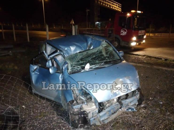 Φθιώτιδα: Φοβερό τροχαίο στα Καμένα Βούρλα – Διαλύθηκε αυτοκίνητο που κατέληξε σε υποσταθμό της ΔΕΗ (video)
