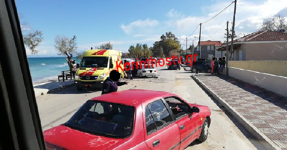 Κορινθία: Σοβαρό τροχαίο στην παλιά εθνική – «Καρφώθηκε» σε προπορευόμενο αυτοκίνητο στο Ξυλόκαστρο (video)