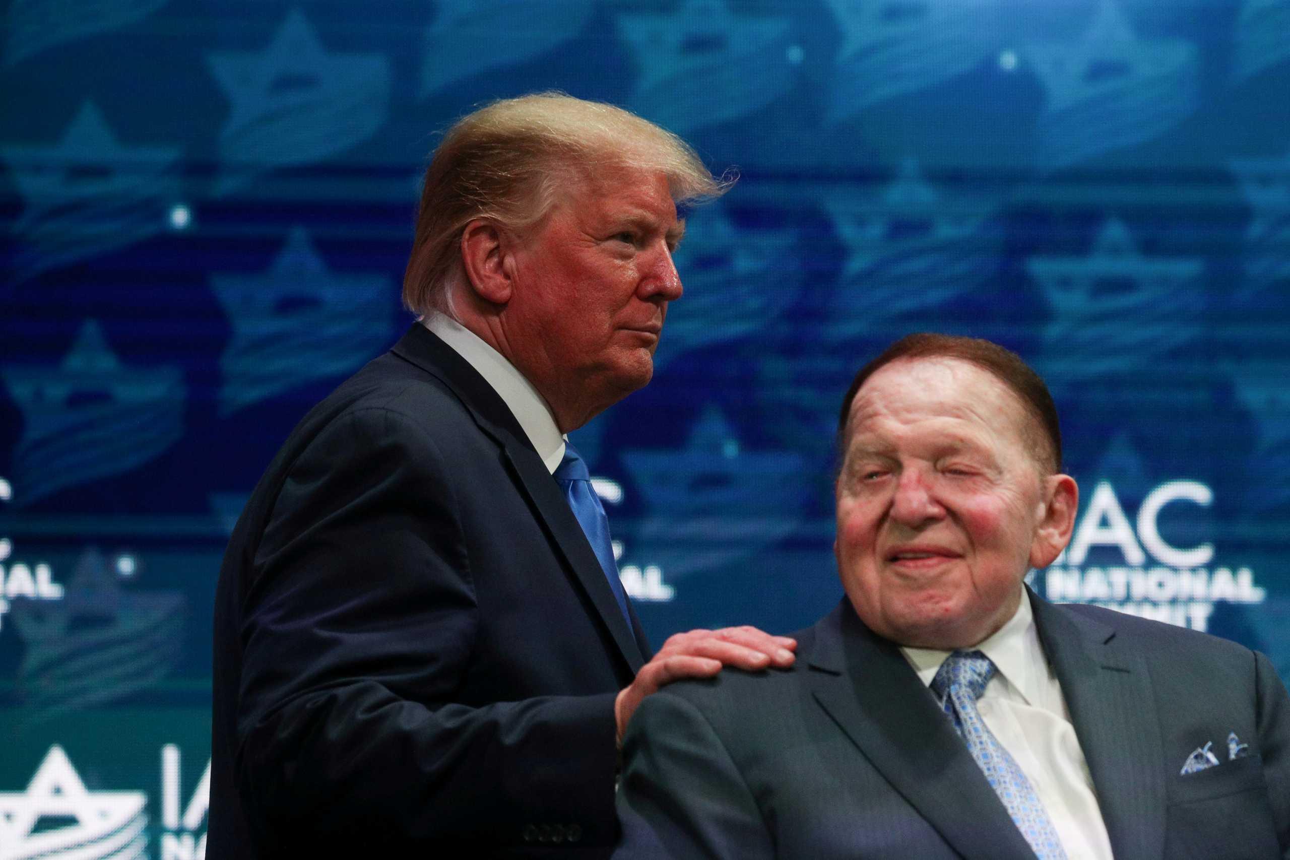 Πέθανε ο μεγαλύτερος χρηματοδότης του Ντόναλντ Τραμπ ο μεγιστάνας Sheldon  Adelson