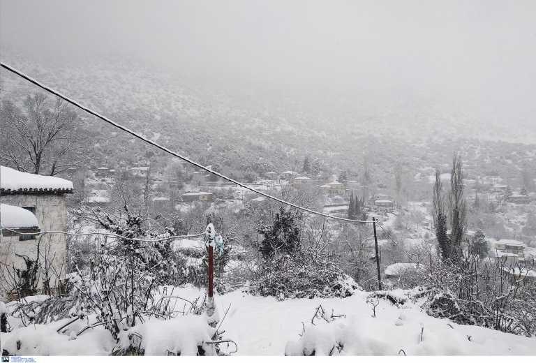 Καιρός – Κρήτη: Μόνο με αλυσίδες η κίνηση στο Οροπέδιο Λασιθίου