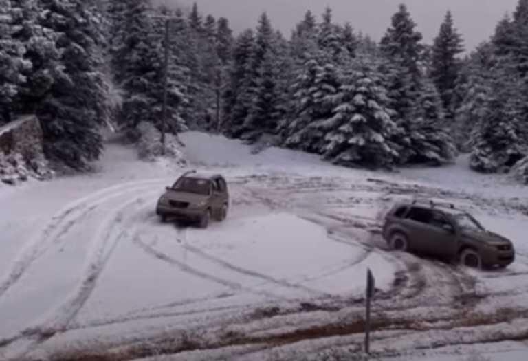 Καιρός – Ορεινή Ναυπακτία: Έζησαν στιγμές που περίμεναν από την αρχή του χειμώνα (video)