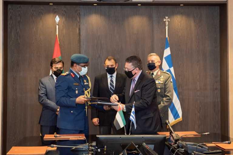 Ο ΥΕΘΑ Παναγιωτόπουλος έδωσε το «παρών» στην τεράστια συμφωνία του Ταμείου Εθνικής Άμυνας με τα ΗΑΕ! (pics)